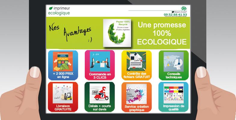 Avantages Imprimeur écologique