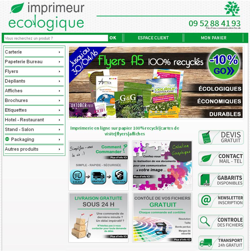 Site internet Imprimeur écologique